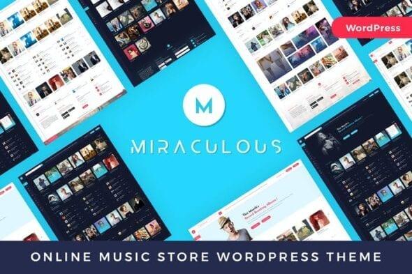 قالب وردپرس تجاری Miraculous - Online Music Store WordPress Theme