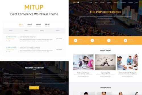 قالب وردپرس همایش و رویداد MitUp - Event & Conference WordPress Theme