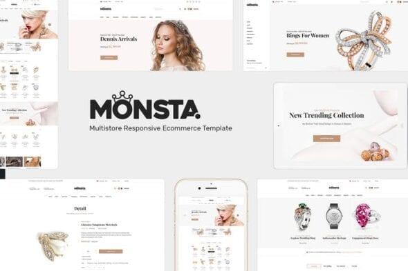 پوسته وردپرس فروشگاهی Monsta - Jewelry WooCommerce WordPress Theme