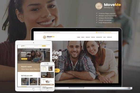 قالب وردپرس خدمات اسباب کشیMoveMe   Moving & Storage Relocation Company WP