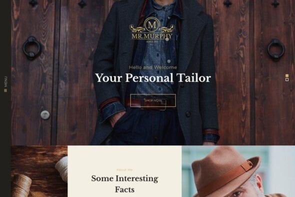 پوسته وردپرس طراحی و دوخت لباس Mr. Murphy - Custom Dress Tailoring Clothing WP