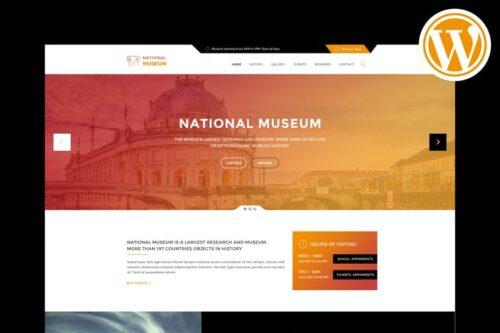 قالب وردپرس موزه Museum - Responsive WordPress Theme