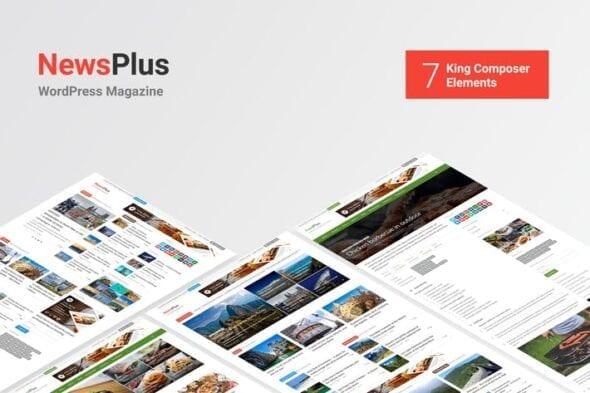 پوسته وردپرس خبری NewsPlus - News and Magazine WordPress theme