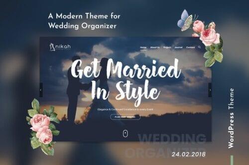 قالب وردپرس تشریفات مجالس Nikah | Wedding Organizer & Planner WordPress