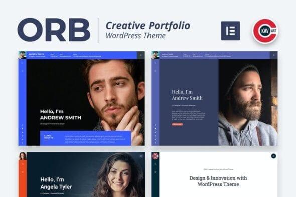 قالب وردپرس پورتفلیو ORB - Creative Portfolio WordPress Theme