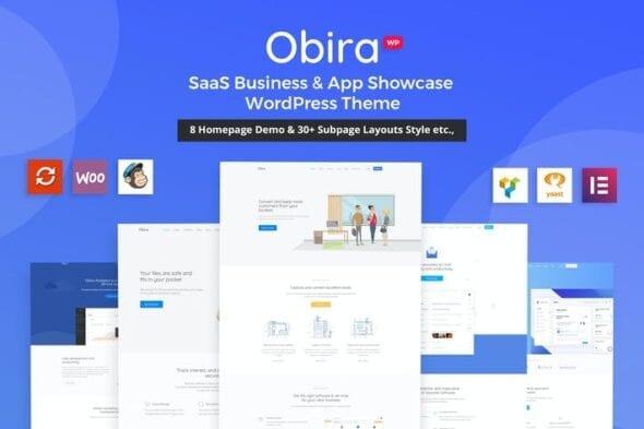 پوسته وردپرس تجاری Obira - SaaS Business & App Showcase Theme