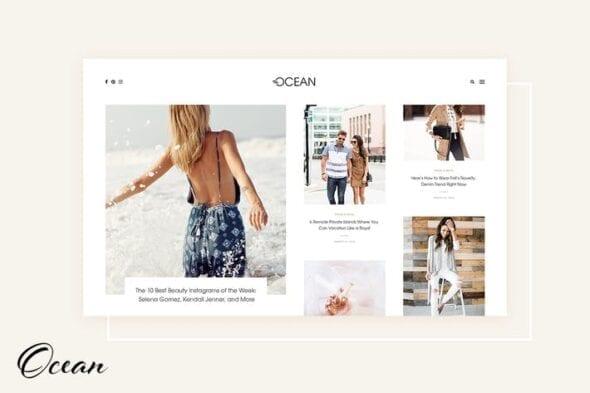 پوسته وردپرس بلاگ Ocean - Exquisite WordPress Blog