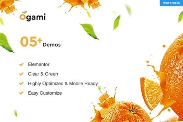قالب وردپرس محصولات ارگانیک Ogami - Organic Store & Bakery WordPress Theme