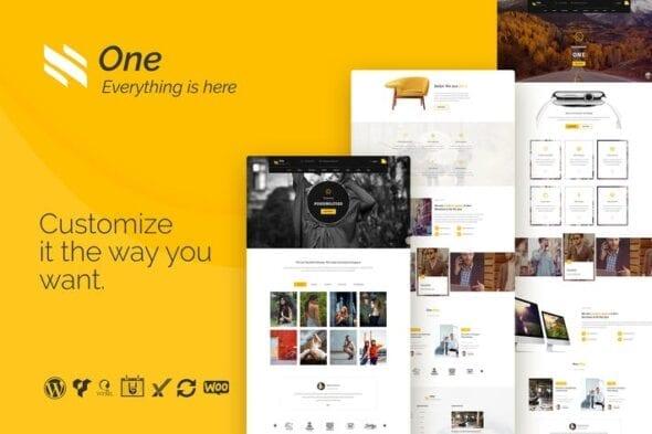 قالب وردپرس آژانس های تجاری One - Business Agency Events WooCommerce Theme