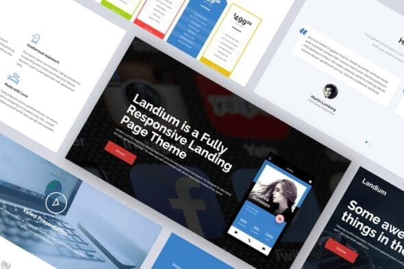 قالب وردپرس لندینگ پیج One Page Landing Page WordPress Theme