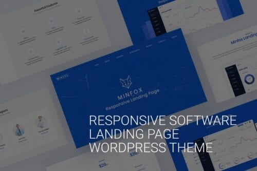 قالب وردپرس تجاری تک صفحه ای Onepage Business WordPress Theme - Minfox