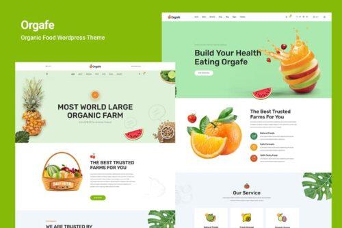 قالب وردپرس محصولات غذایی ارگانیک Orgafe - Organic Food WordPress Theme