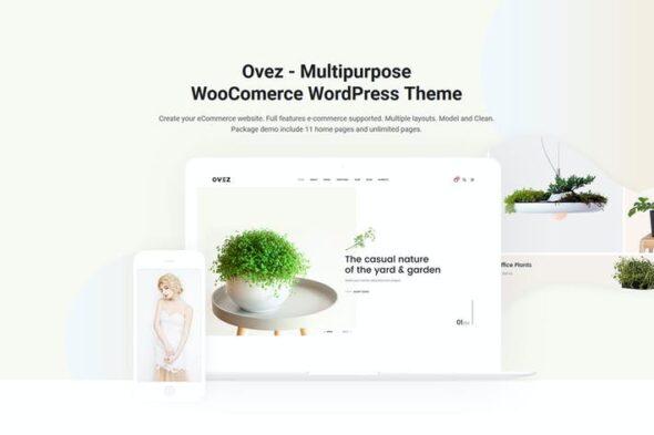 قالب وردپرس فروشگاهی Ovez - Modern Multi-Concept WooCommerce Theme