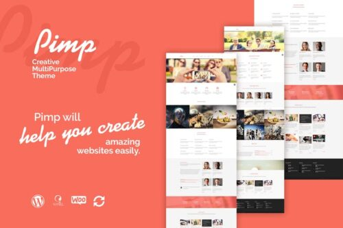 قالب وردپرس چندمنظوره PIMP - Creative MultiPurpose Theme