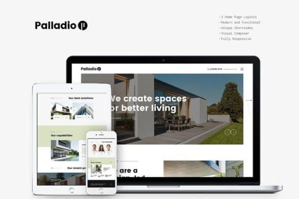 قالب وردپرس معماری و طراحی داخلی Palladio - Interior Design & Architecture WP Theme