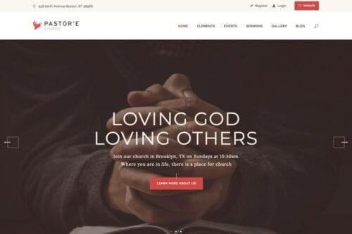 قالب وردپرس مذهبی Pastor'e | Church, Religion & Charity WP Theme