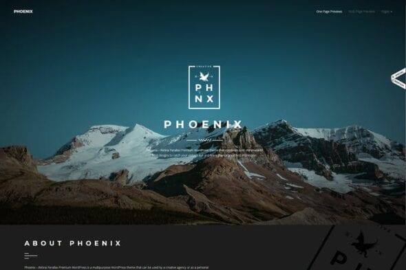 پوسته وردپرس پورتفلیو Phoenix - WordPress Minimal Multipurpose Portfolio