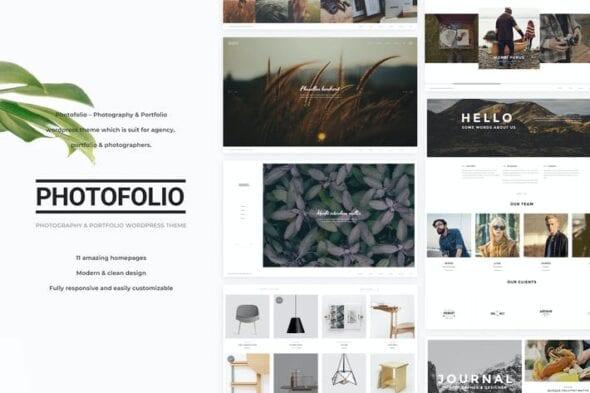قالب وردپرس عکاسی Photofolio - Photography WordPress Theme