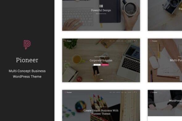 پوسته وردپرس تجاری Pioneer - Multi-Concept Corporate WordPress Theme