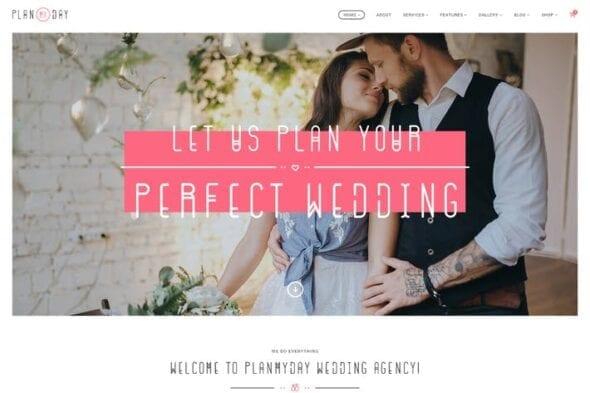 قالب وردپرس تشریفات و برگزاری مجالس Plan My Day | Wedding / Event Planning Agency