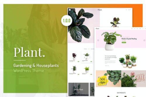 پوسته وردپرس گیاهان آپارتمانی Plant | Gardening & Houseplants WordPress Theme
