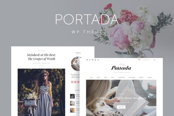 قالب وردپرس بلاگ Portada - Elegant Blog Blogging WordPress Theme