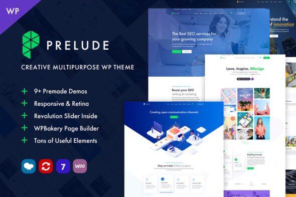 قالب وردپرس چندمنظوره Prelude - Creative Multipurpose WordPress Theme