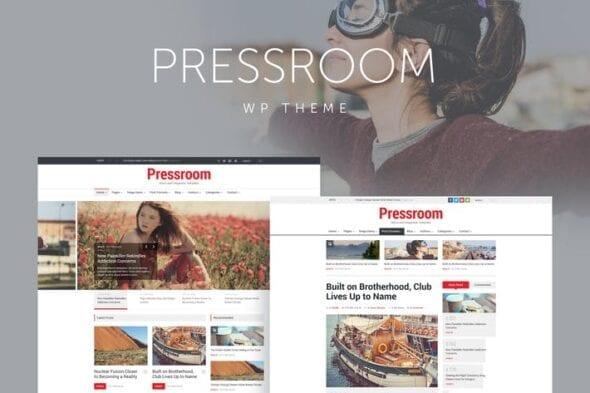 قالب وردپرس خبری Pressroom - News and Magazine WordPress Theme