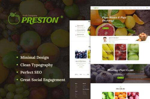 پوسته وردپرس محصولات کشاورزی Preston