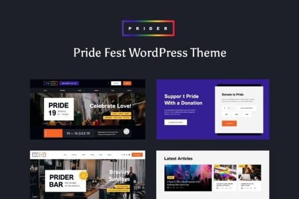 قالب وردپرس همایش و رویداد Prider