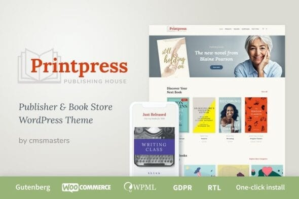 قالب وردپرس انتشارات کتاب Printpress - Book Publishing WordPress Theme