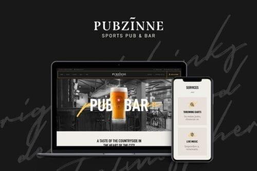 قالب وردپرس رستوران و کافه Pubzinne