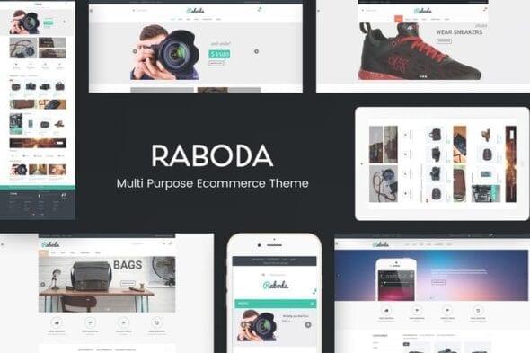 قالب وردپرس فروشگاهی Raboda - eCommerce Responsive WordPress Theme