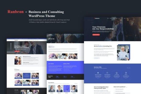 قالب وردپرس تجاری Ranbron - Business and Consulting WordPress Theme