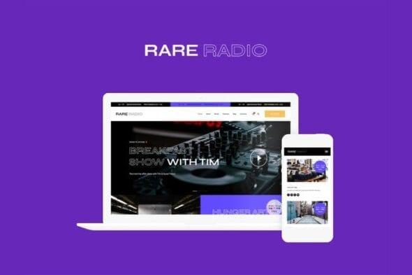 پوسته وردپرس رادیو Rare Radio