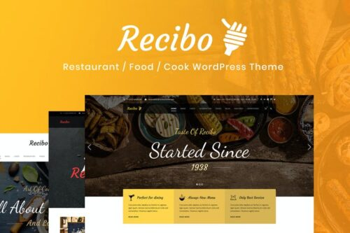 پوسته وردپرس آشپزی و رستوران Recibo - Restaurant / Food / Cook WordPress Theme