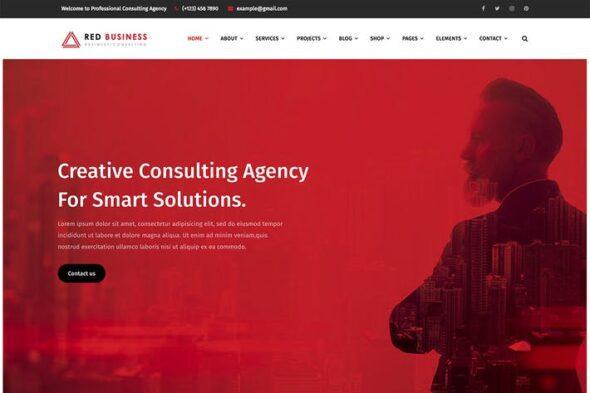 پوسته وردپرس مشاوره مالی RedBiz - Finance & Consulting Multi-Purpose WordPr