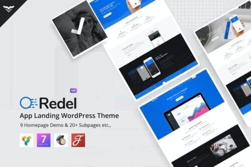 پوسته وردپرس لندینگ پیچ Redel - Responsive App Landing WordPress Theme