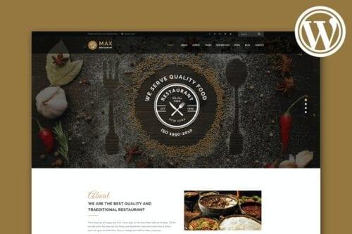 قالب وردپرس رستوران Restaurant - Responsive WordPress Theme