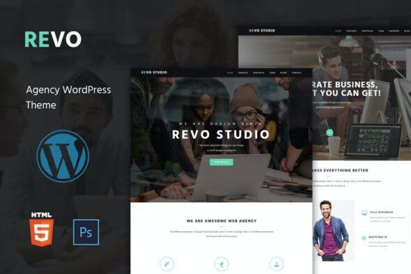 قالب وردپرس چندمنظوره Revo Studio - Multipurpose WordPress Theme