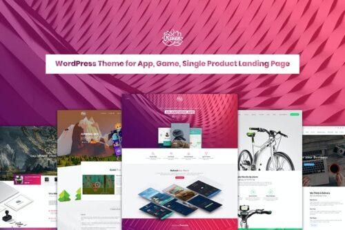 پوسته وردپرس لندینگ پیج Riven - App, Game, Single Product Landing Page