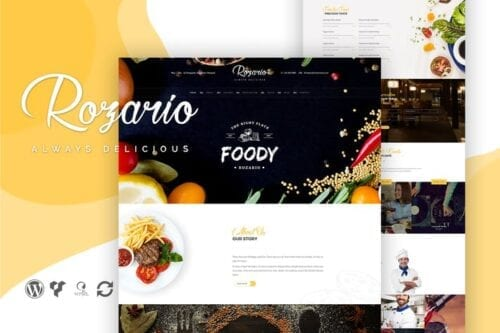 قالب وردپرس رستوران Rozario - Restaurant & Food WordPress Theme