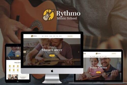 قالب وردپرس آموزش Rythmo
