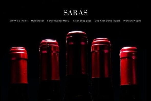پوسته وردپرس فروشگاهی Saras - Wine WordPress Theme