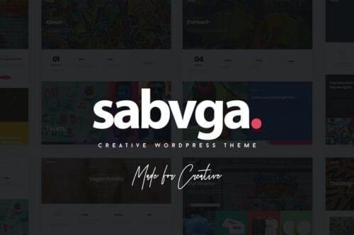 پوسته وردپرس پورتفلیو Sabvga - Modern & Creative Portfolio Theme