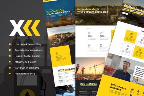 قالب وردپرس صنعتی Samatex - Industrial WordPress Theme + Woocommerce