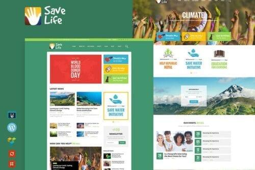 پوسته وردپرس موسسات خیریه و حمایتی Save Life