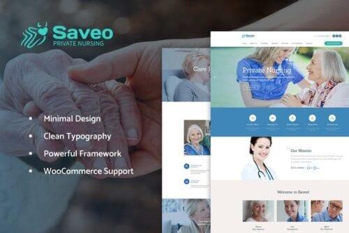 قالب وردپرس پزشکی و پرستاری Saveo