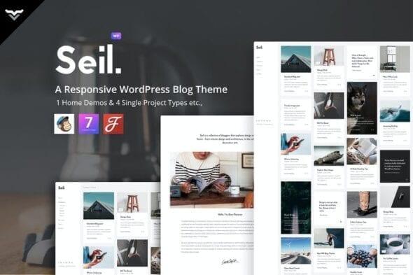 پوسته وردپرس بلاگ Seil - A Responsive WordPress Blog Theme