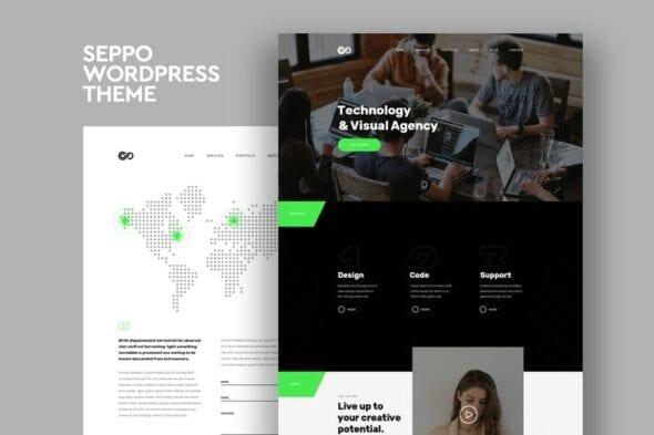 قالب وردپرس چندمنظوره Seppo - Corporate One Page WordPress Theme